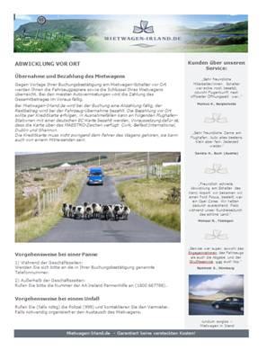 Mietwagen Abwicklung vor Ort in Irland